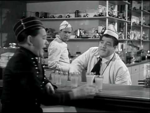Abbott & Costello - Limburger Cheese Sandwich & Orange Juice (Who Done It?, 1942)