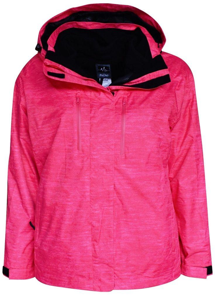 New Pulse Womens Plus Size Ski Jacket 3in1 1X 2X 3X 4X 5X 6X Juicy Boundary Coat