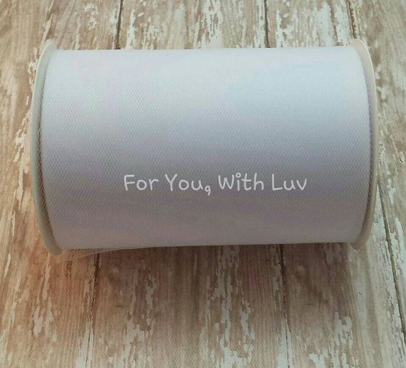 White 100 yard Tulle Roll 100 Yard Spool of 6 by ForYouWithLuv