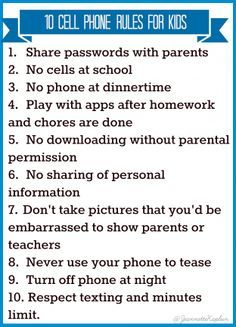 10 Rules to Consider Before Handing Your Kids a Cell Phone
