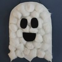 Fall Craft for Kids-- Cotton Ball Ghost