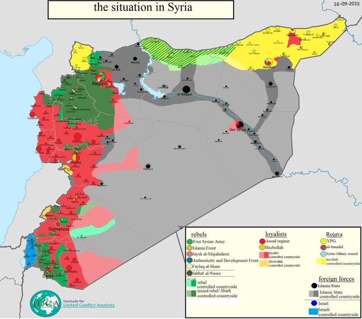 The situation in Syria on 16 September 2015. - Maps on the Web