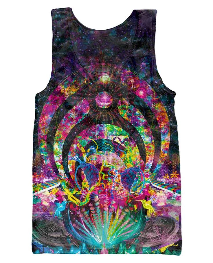 Infinite Bit: the ultimate in Premium psychedelic apparel. A portion of each sale is given to the artist who created this masterpiece. • 100% Polyester • Dye Sublimation Print • Rib Crew Neck • Print