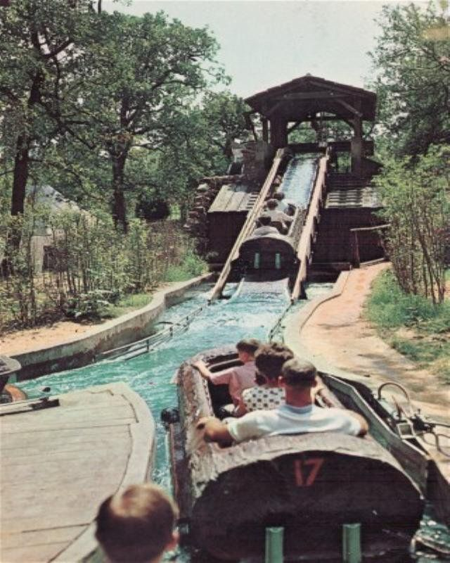 Six Flags - the Log Flume.  Talk about exciting!  When Six Flags opened in Atlanta, it was thrilling to say the least! (slj)