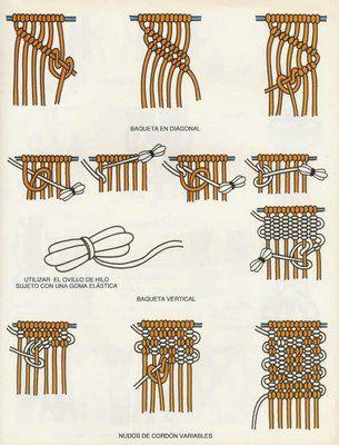Aprenda a fazer pontos em macramê ! - CostureBem.com.br - CostureBem.net Moda, Costura, Artesanato, Bordado
