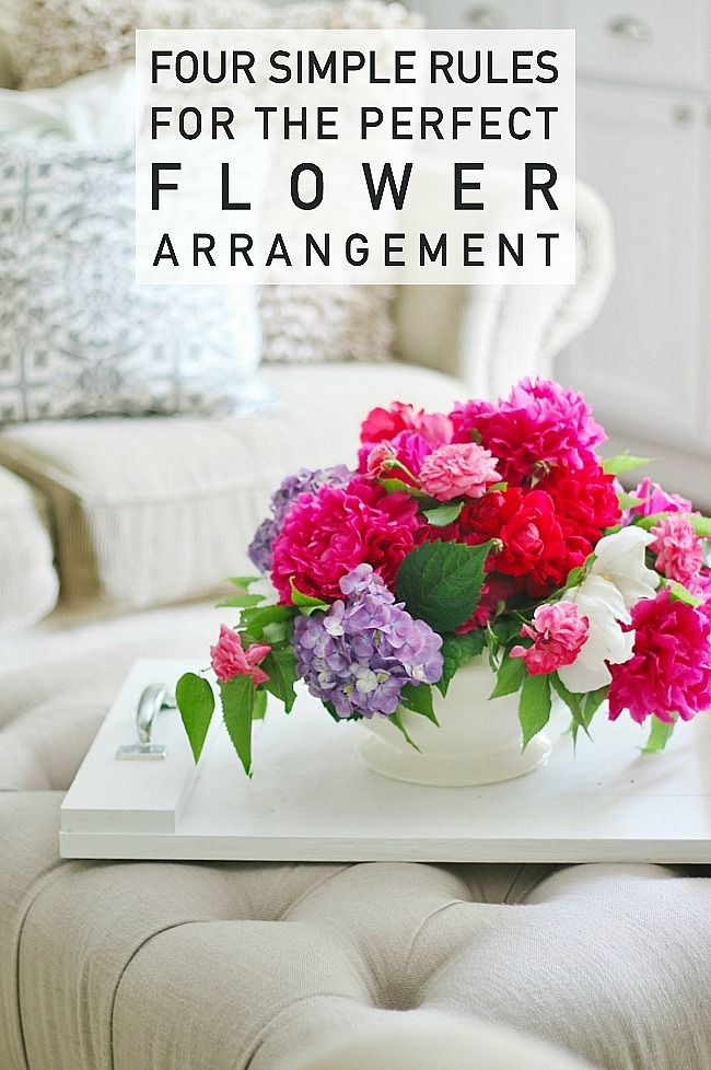 Simple flower arranging tips.