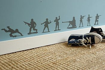 Skirting board heroes wall stickers