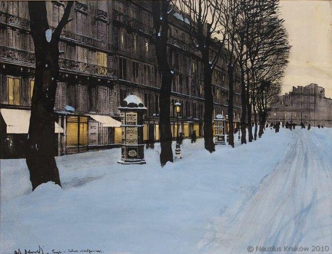 Odo Dobrowolski - Paryż. Bulwar Montparnasse