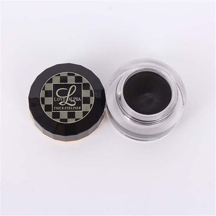 Professional Luxury LOVE ALPHA Waterproof Thick Eyeliner Gel Matte/Pearl Color