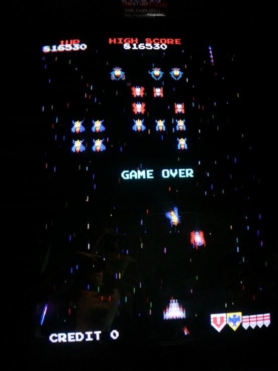 My high score in galaga.  3/18/2013 at Tolly Ho in Lexington, Kentucky.
