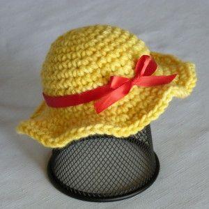 Crochet Pattern: Doll Sun Hat