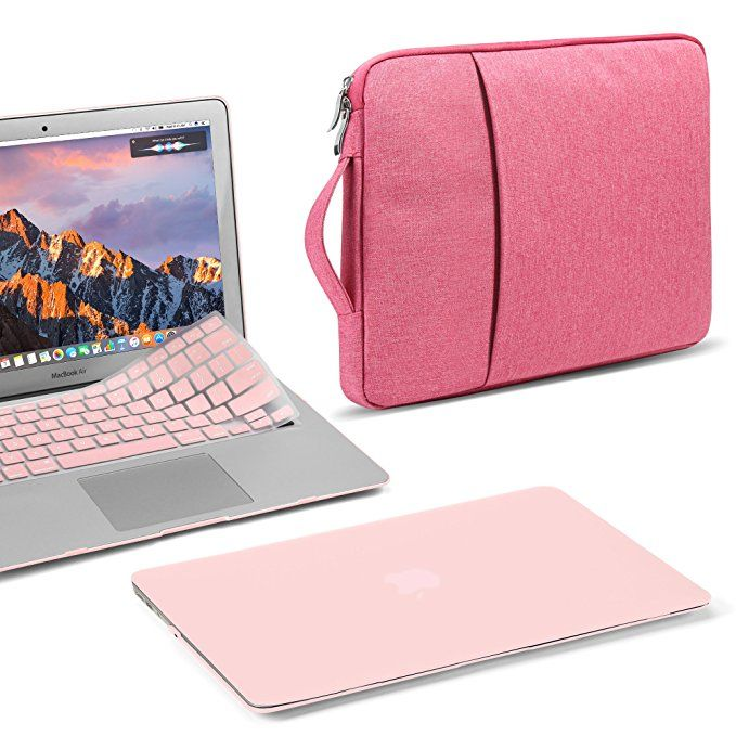 Se7enline MacBook Pro 15 inch Case Plastic Hard Shell Protective Carrying Case for MacBook Pro 15-inch with Touch Bar Model A1707//A1990 2016//2017//2018 with Keyboard Cover Skin,Rose Gold