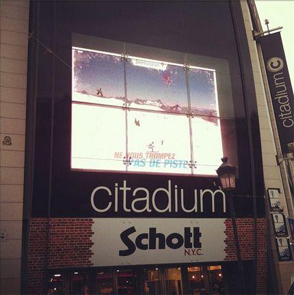 Le grand écran du Citadium