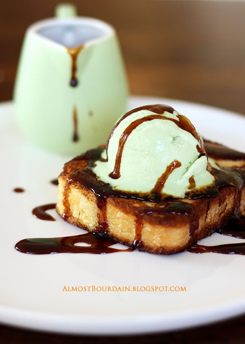 Brioche french toast, Coconut ice cream and Palm sugar on Pinterest