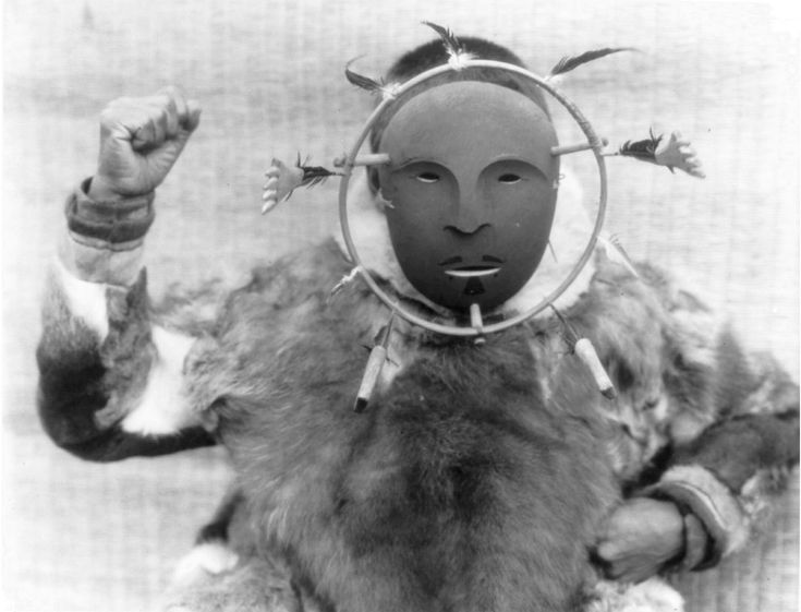 Ceremonial mask wearer Nunivak Curtis LOC.JPG
