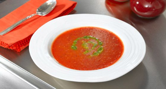 Breville The Perfect Tomato Soup recipe This quick and easy tomato soup recipe is a classic and tastes wonderful hot or cold.  #Vegetable #Starter #Blending