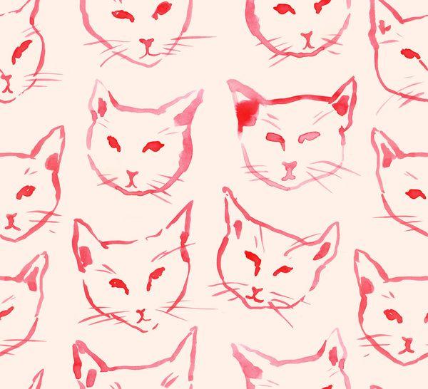 Red Cat  by Leah Reena Goren