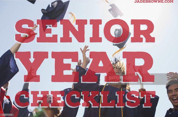 Senior Year checklist via jadebrowne.com