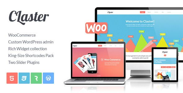 Claster - Multi-Purpose WP WooCommerce Theme   http://themeforest.net/item/claster-multipurpose-wp-woocommerce-theme/5985930?ref=damiamio             	 Current version – 1.2.1  Claster WooCommerce Wordpress Theme 	 Claster Wordpress Theme has two beneficial features. First of all, it is a very functional and intuitive in use WordPress Theme. In is based in the latest version of Cmsmasters' custom WP admin panel that extends basic WordPress functionality significantly.  	 The second keypoint…