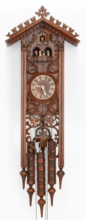 $2,278. Long Bahnhusle Cuckoo Clock with 8 Day Movement 8365