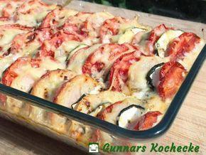 Vegetarischer Zucchini-Kartoffel-Auflauf