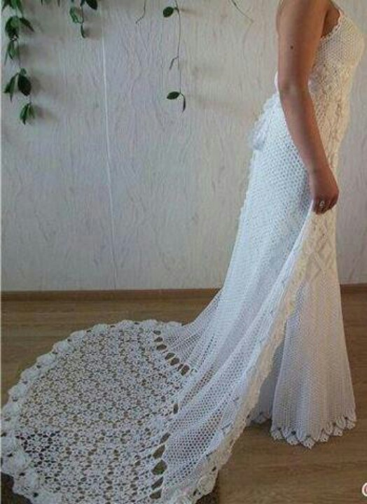 Vestido novia: Crochet Ideas, Wedding Dressses, Wedding, Crochet Dresses, Dresses Pretty, Dresses, Crochet Wedding Dresses, Crochet Patterns, Crochet Clothing