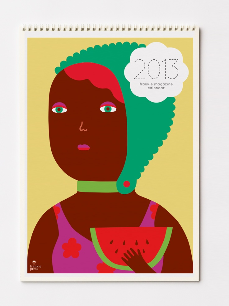 frankie magazine calendar 2013 features many different artists' work $30