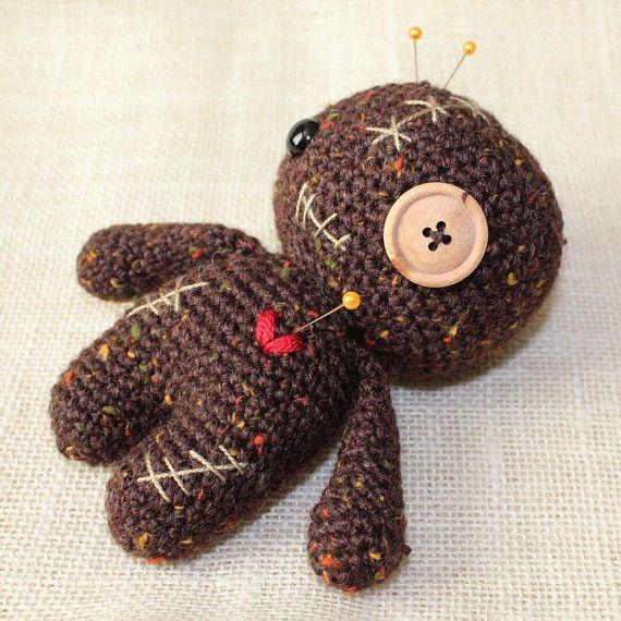 Voodoo Doll Pincushion Crochet Voodoo Doll Amigurumi