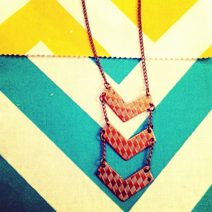 favorite piece of jewelry I've ever made- chevron inspired necklace!: Steampunk Necklace