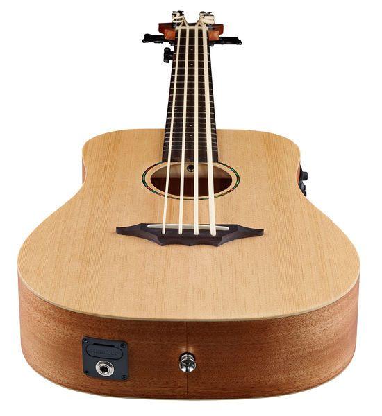 Bas-ukulele  Linkshandig model, Custom Line Kahuna Serie, Sparren bovenblad, Mahonie body, Arched achterkant, Mahonie hals, Halsprofiel: C, Palissander fretboard, Dot inlays, Scale: 534 mm, 20 Frets, Topkam breedte: 42,0 mm, Palissander brug, Zwarte...