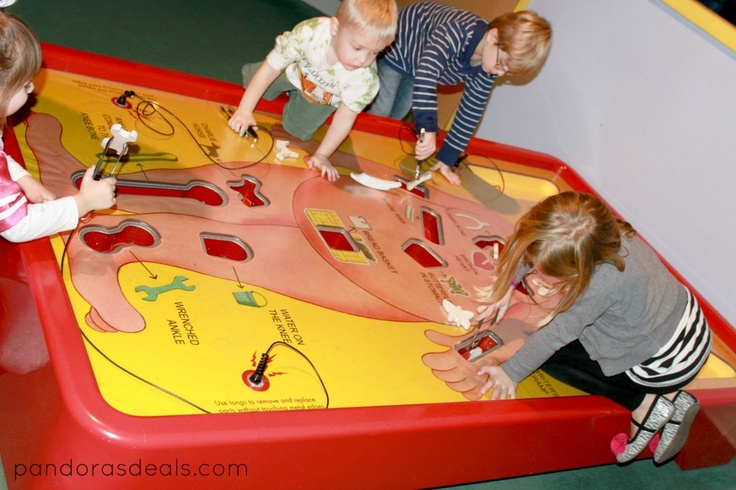 Play this oversized game of Operation at Highmark SportsWorks at Carnegie Science Center