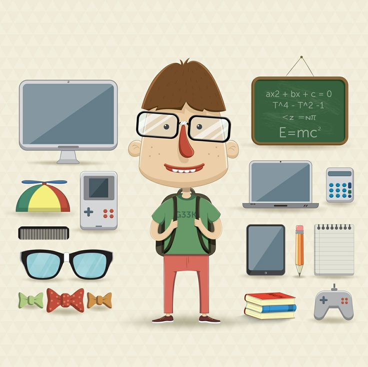 Character Design Elements : Character design set with elements and accessories moje