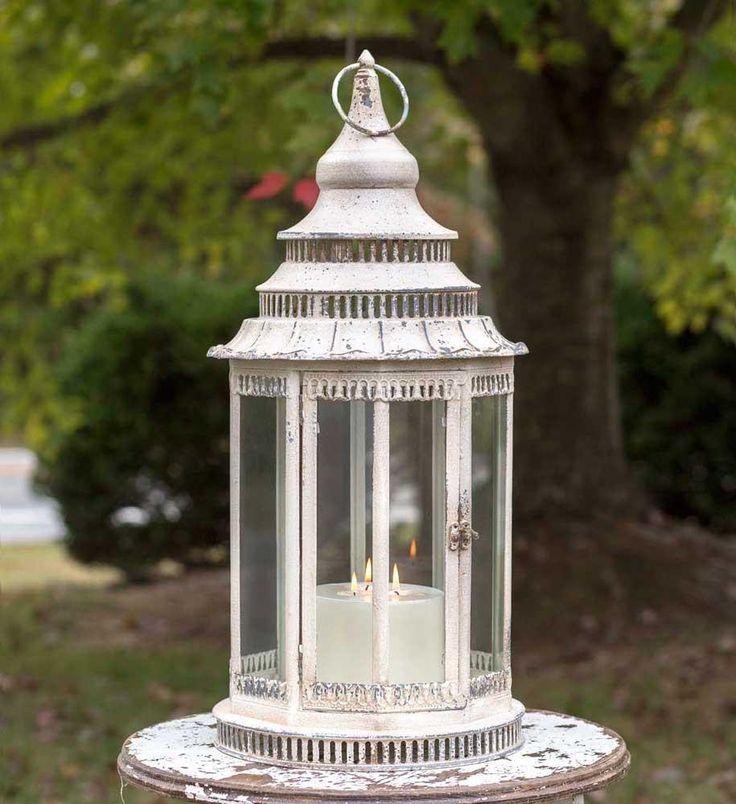 Large Gazebo Whitewashed Lantern