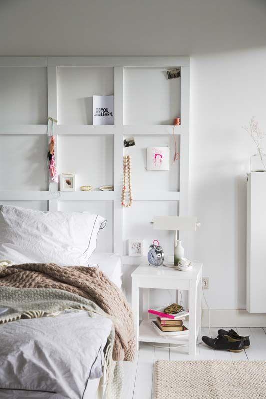 KARWEI | Maak je eigen bedbord en geef je slaapkamer een luxe uitstraling. #karwei #diy #wooninspiratie