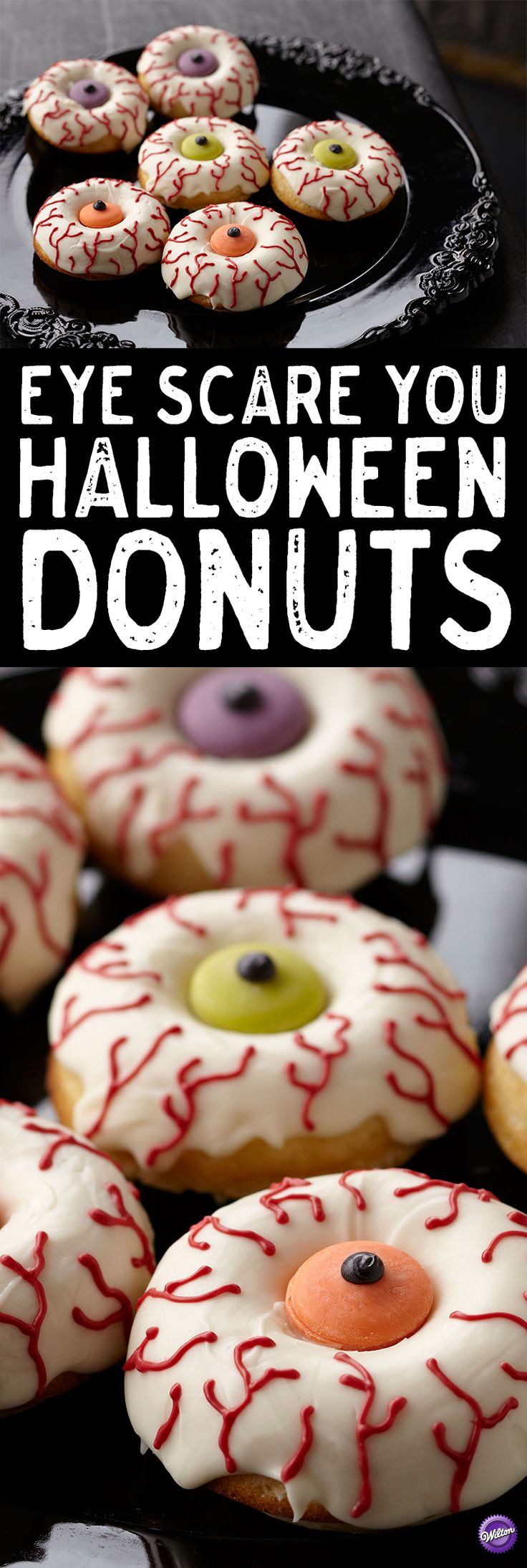 eye scare you halloween donuts wake up your halloween celebration with candy topped doughnuts - Halloween Bakery Ideas