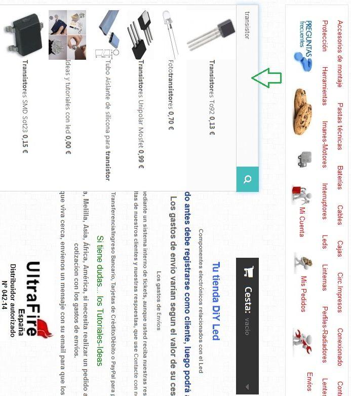 Shoptronica S.L. Tu tienda DiY Led Componentes electrónicos relacionados con el Led.