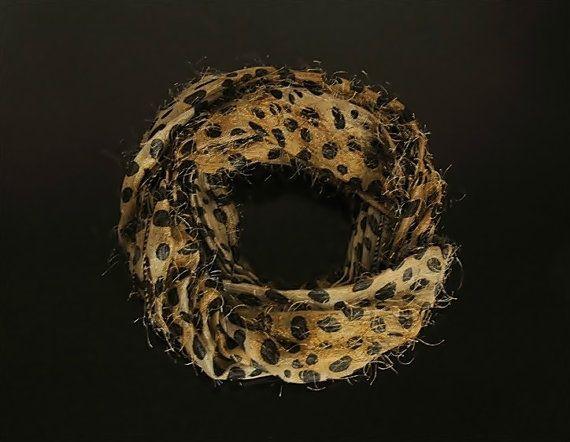 Vintage leopard scarf vintage scarf leopard scarf women