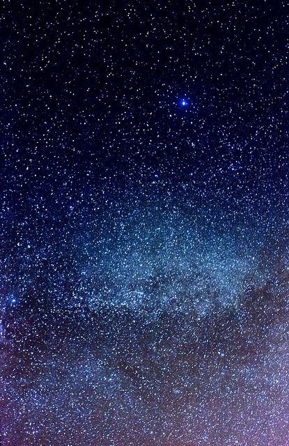 senerii: Vega and a section of the Milky Way by ambaqua on Flickr. God can take care of me and my family! Look what He made!