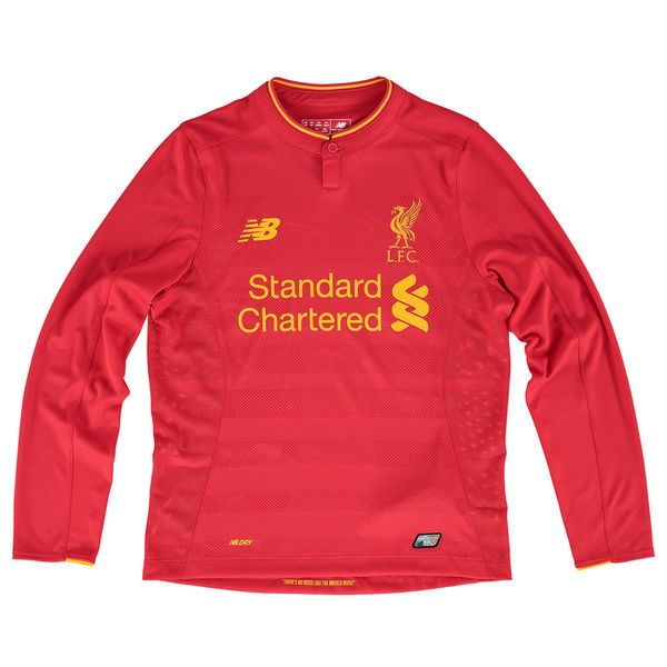Liverpool FC New Balance Youth 2016/17 NB Dry ® Long Sleeve Home Jersey - Red - $69.99