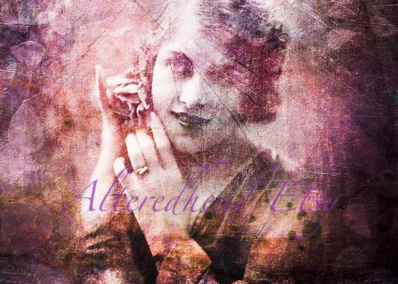 She Dreams In Color Altered Photo Print 5x7 by Alteredhead on Etsy