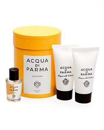 Colonia Acqua Di Parma Mini Set by Acqua Di Parma. $39.00. Colonia Acqua Di Parma Mini Set. Colonia Acqua Di Parma Colonia Acqua Di Parma Travel Set  Colonia Acqua Di Parma Miniature Travel Set  Colonia Acqua Di Parma .16 oz / 5 ml Eau De Cologne  Colonia Acqua Di Parma .67 oz / 20 ml Bath And Shower Gel  Colonia Acqua Di Parma .67 oz / 20 ml Body Cream Set  An elegant timeless scent filled with a fresh, luminous blend of natural ingredients like Bulgarian ros...