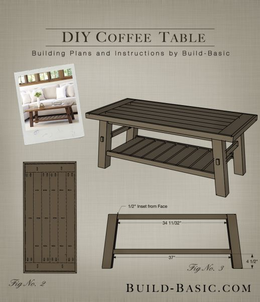 Top 133 Ideas About Build Basic Building Plans On: homemade coffee table plans