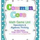 "This collection of 15 math games was designed to teach/review the Common Core math standards for 1st Grade under the ""Operations and Algebraic Thin..."