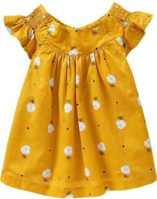 Old Navy Smocked Flutter Sleeve Tops For Baby