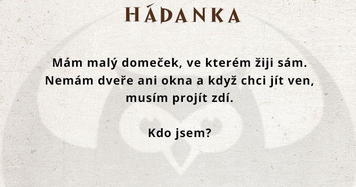 Mám malý domeček...  #agentimysterii #zabava #hadanka #deti