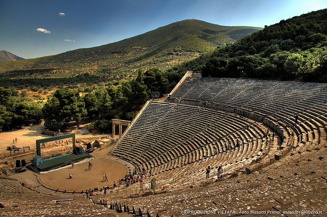 VISIT GREECE| The theater of Epidaurus was designed by Polykleitos the Younger in the 4th century BC. The original 34 rows were extended in Roman times by another 21 rows. #monuments #history #art&culture