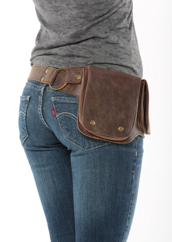 Hip Pack Leather Utility Belt – Bomber Brown (Largest pockets of most any belt on the market, great for phones, functional and beautiful)