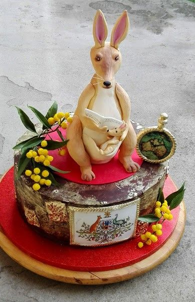 Kangoroo birthday cake