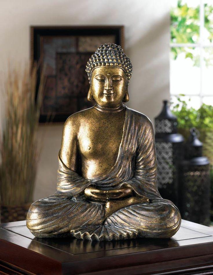 Black Silver Meditating Buddha Wall Art Home Again Palm Beach