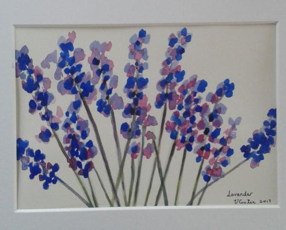 Lavender  original watercolour painting by Vicky by MyCoveArt